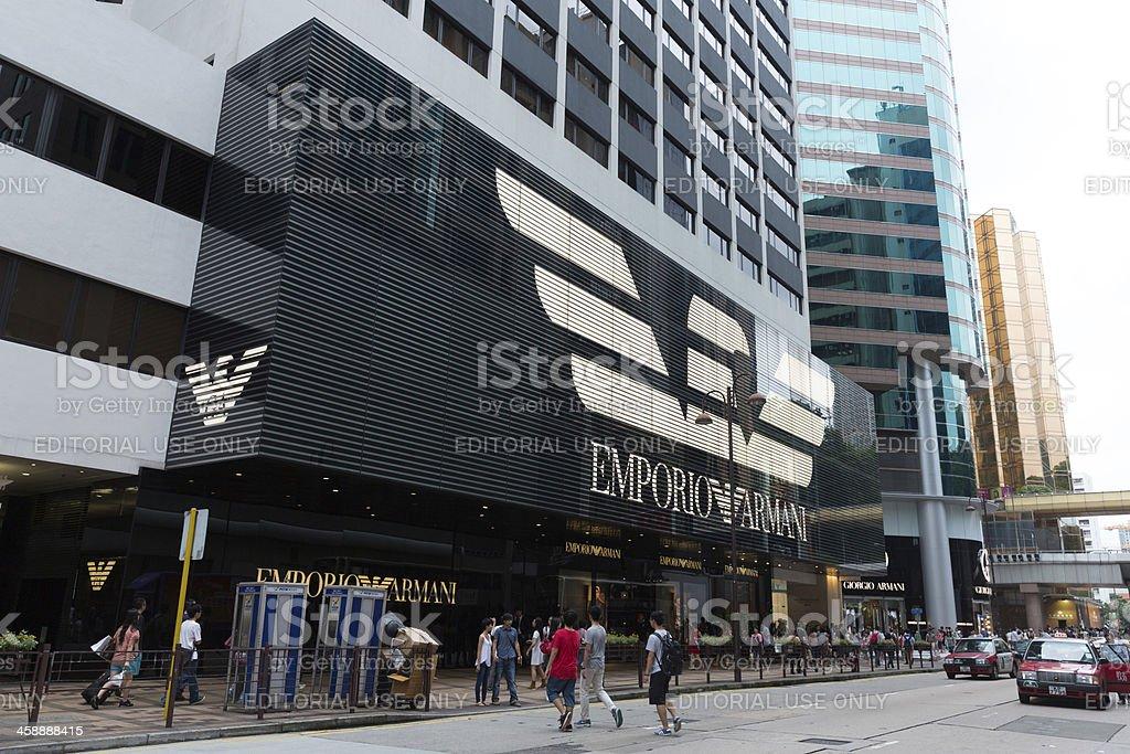 Emporio Armani Flagship Store royalty-free stock photo