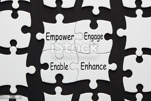 istock Empower Engage Enable Enhance 1128932881