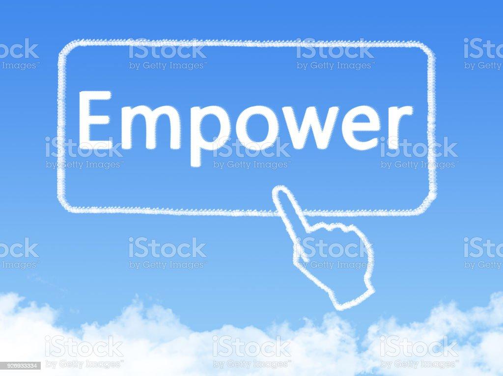 empower message cloud shape stock photo