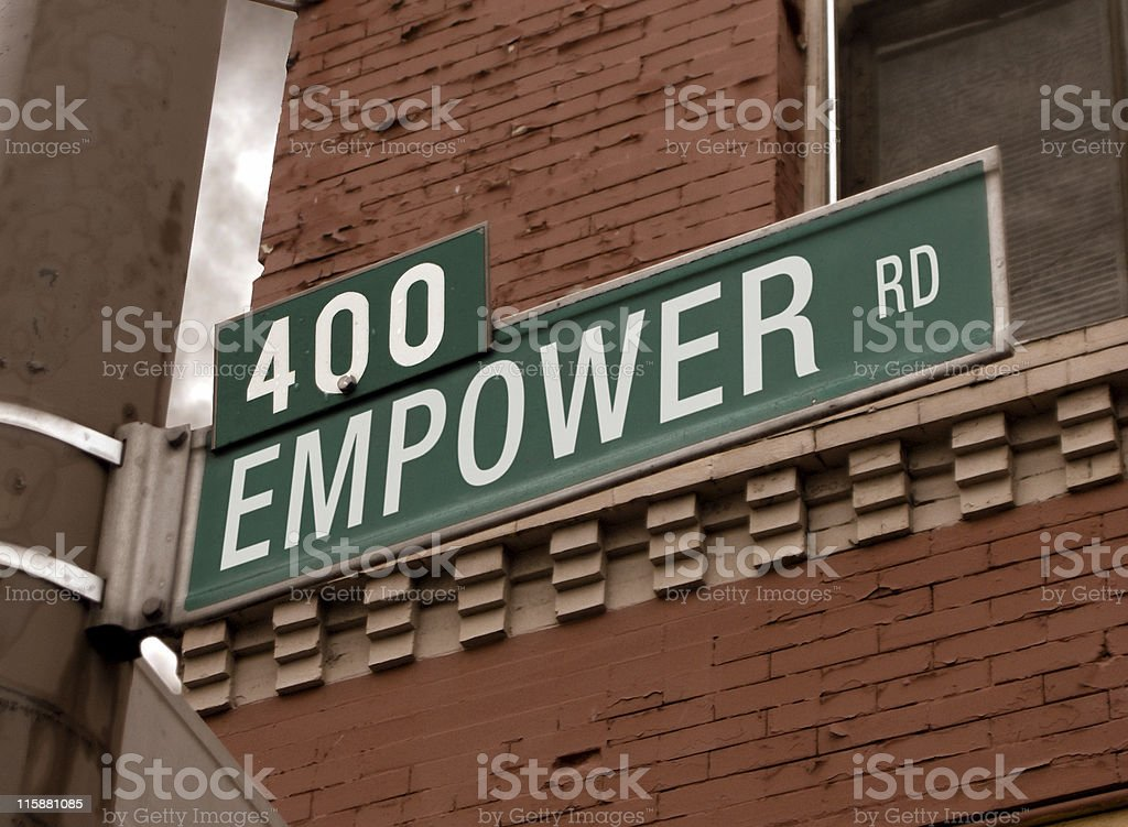 Empower Road Sign royalty-free stock photo