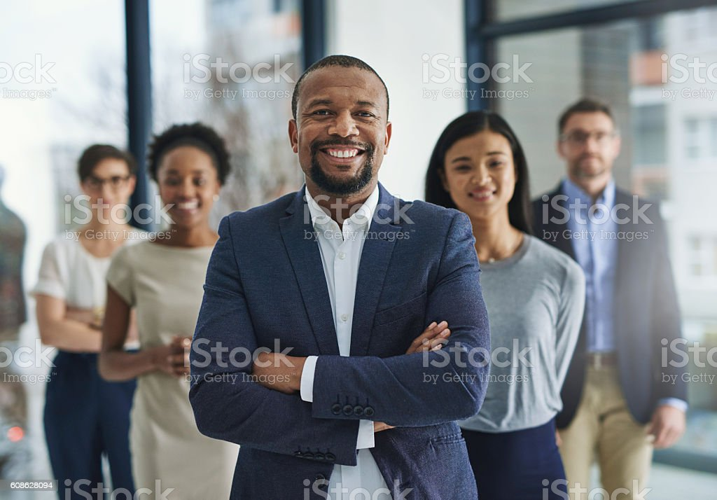 Empowered to lead an empire stock photo
