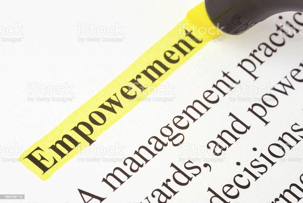 Empowerment royalty-free stock photo