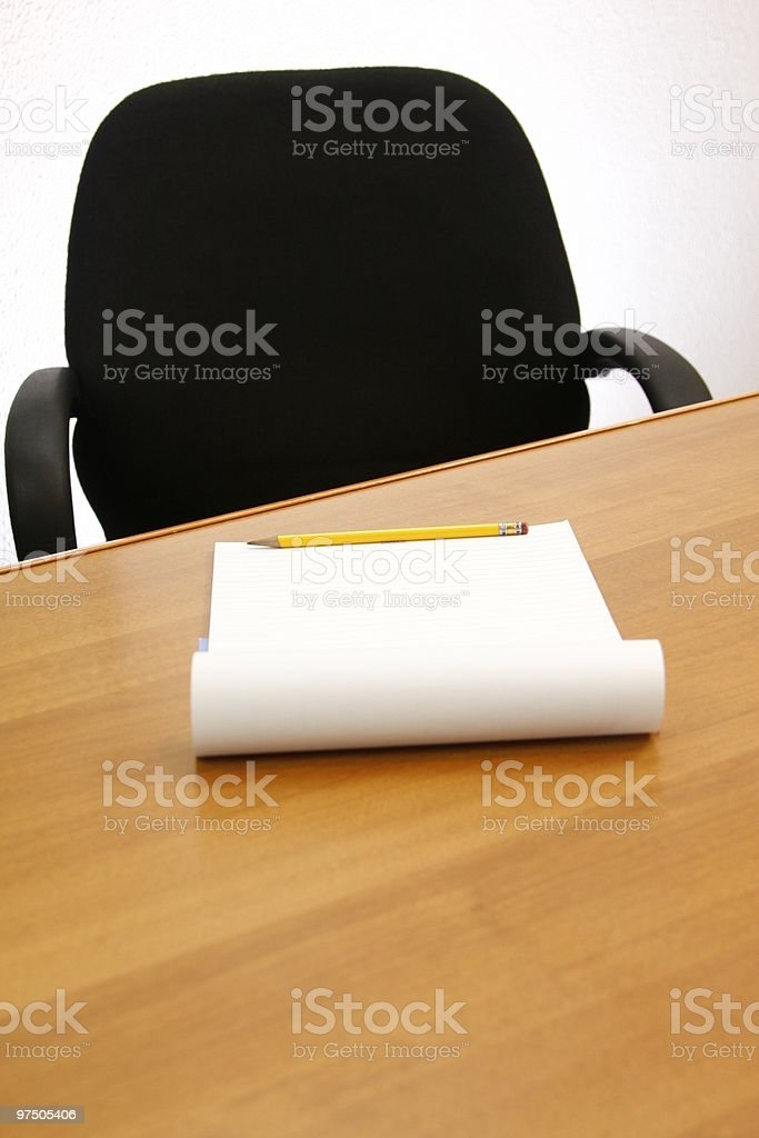 Emptiness work place on a meeting room royalty-free stock photo