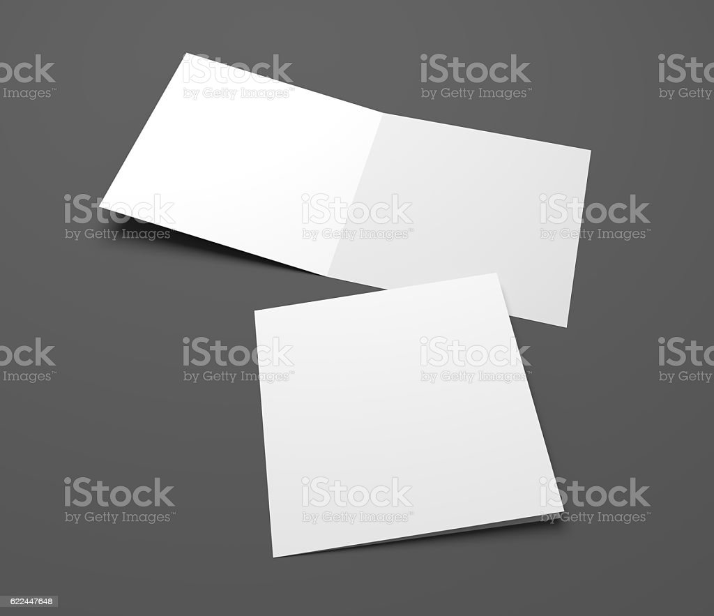 Empty 3d Illustration Open Square Greeting Cards Stock Photo More