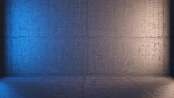 empty 3d interior with concrete walls - foto de acervo