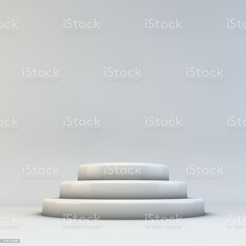Empty 3D podium stock photo