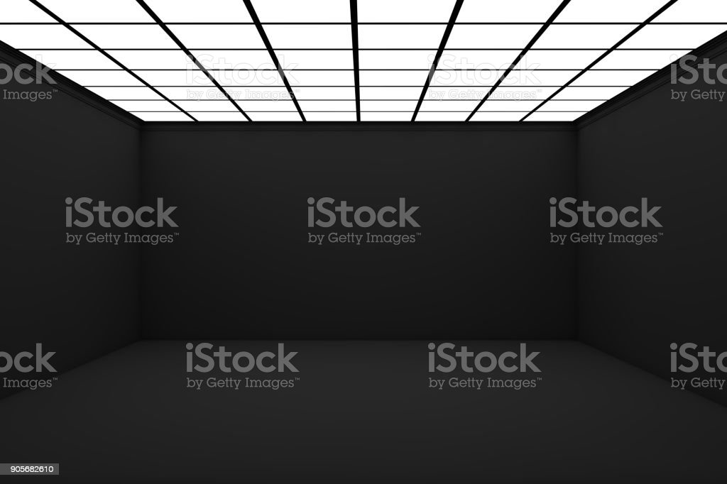Sala 3d vacía foto de stock libre de derechos