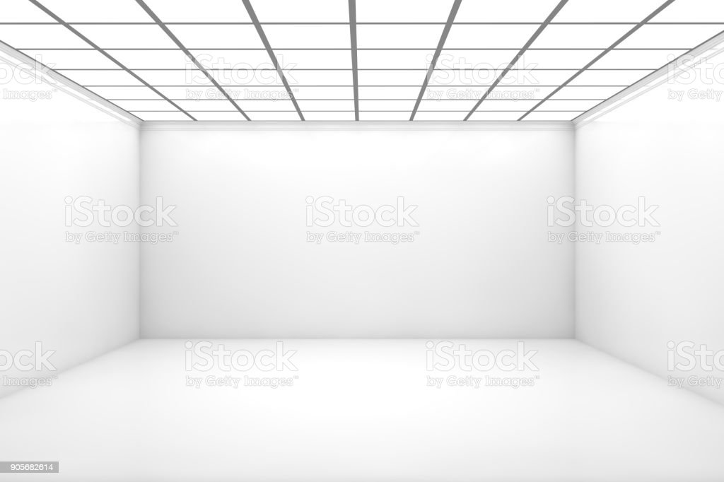 Empty 3d Room stock photo