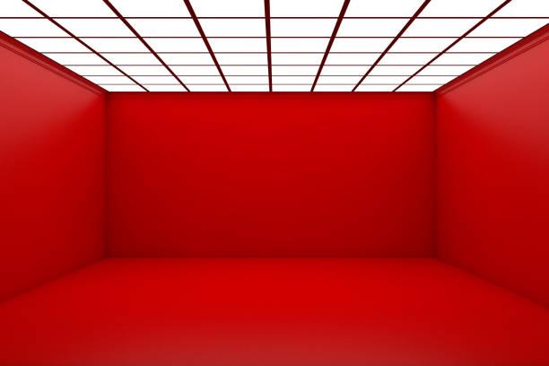 Sala 3d vacía - foto de stock