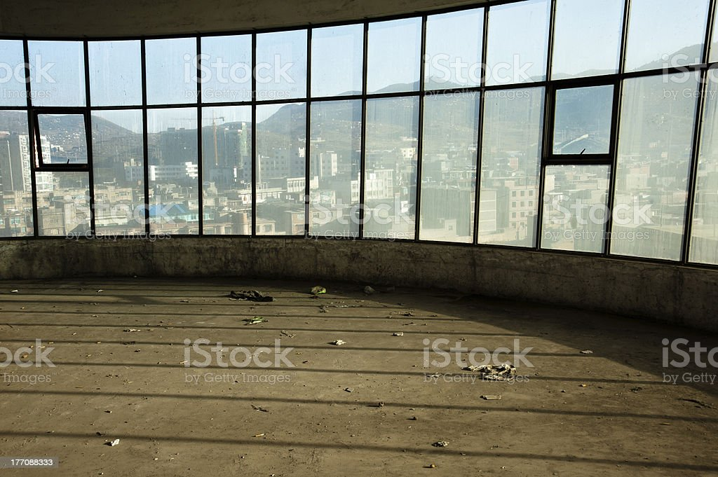 Empty abandoned loft apartment royalty-free stock photo