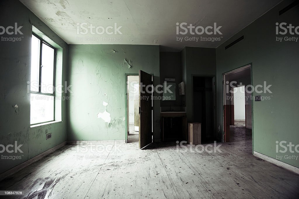 empty abandoned room stock photo