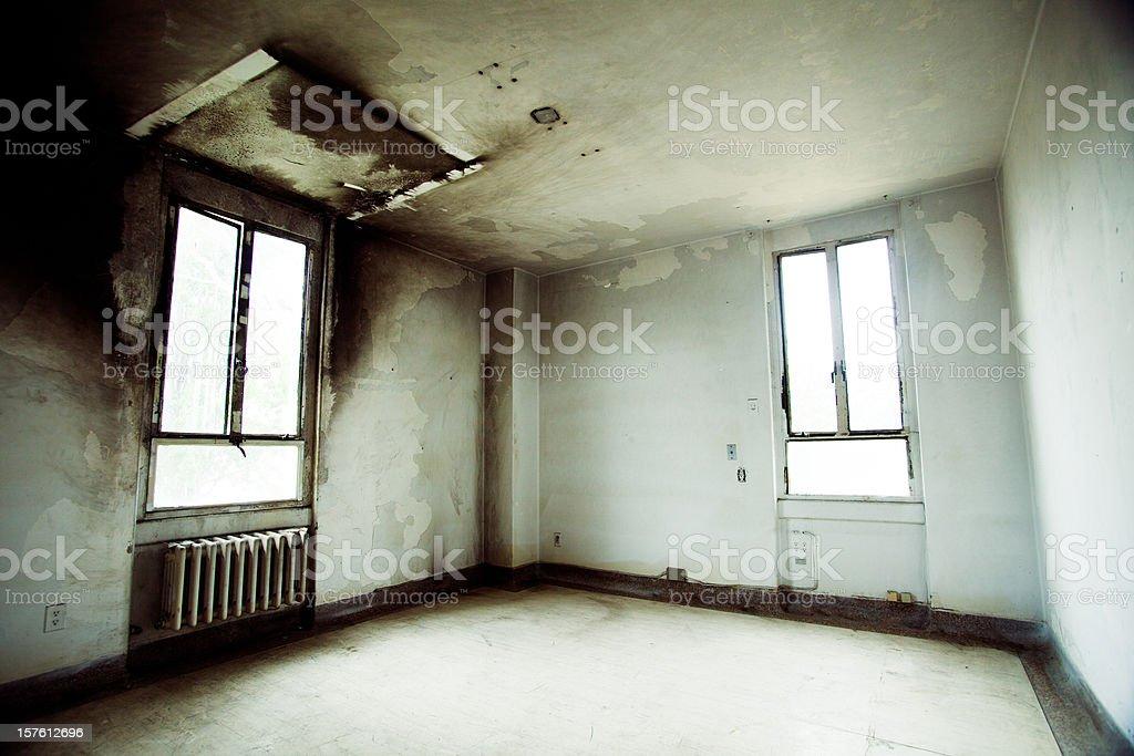 empty abandoned room stock photo