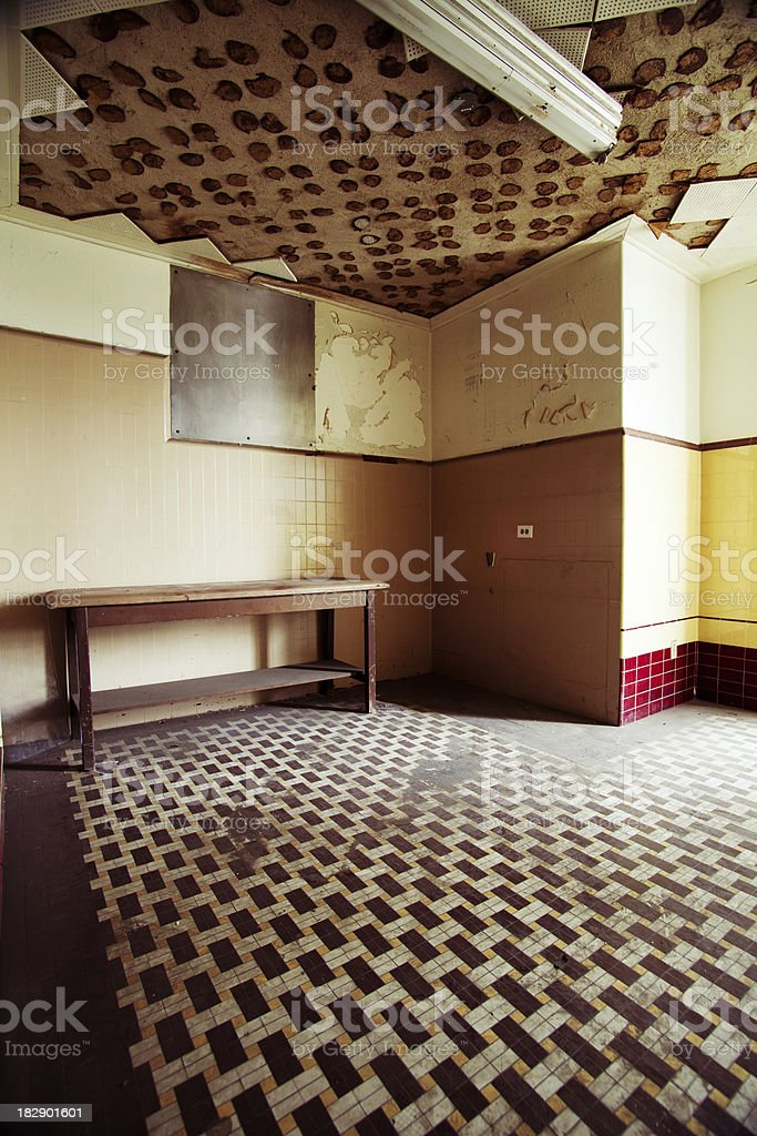 empty abandoned room royalty-free stock photo