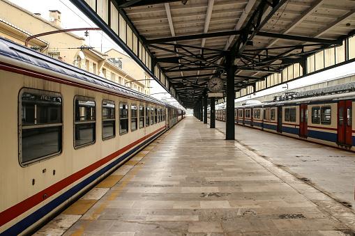 Empty, abandoned train station.