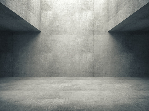 istock Empty abstract concrete room and lateral lights,3D rendering 1067044500