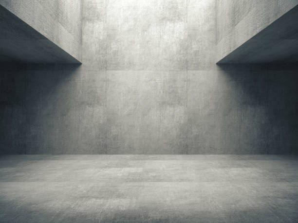 Empty abstract concrete room and lateral lights,3D rendering Empty abstract concrete room and lateral lights,3D rendering studio stock pictures, royalty-free photos & images