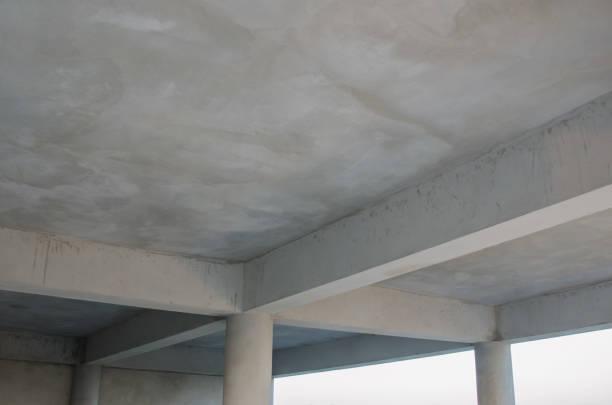 leere abstrakte konkrete wand und decke-dach-gebäude-gebäude - betondecke stock-fotos und bilder