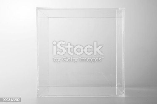 istock Empty acrylic cube 900812292