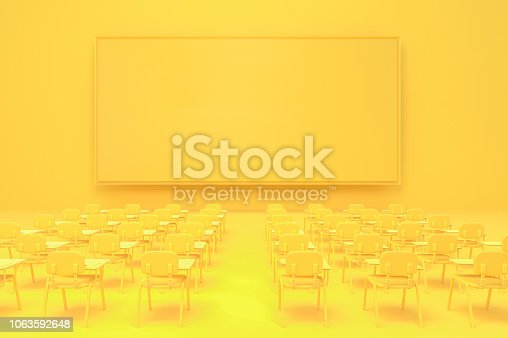 istock empty ad board yellow screen mock-up 1063592648