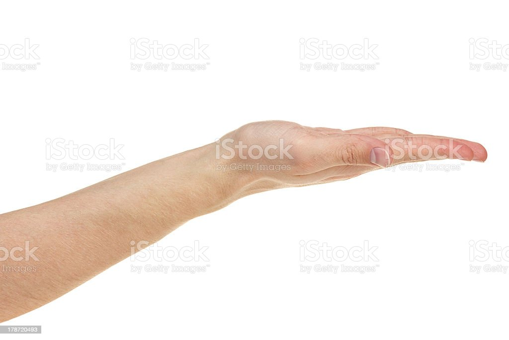 empty adult man hand royalty-free stock photo