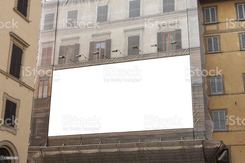 Empty advertisement billboard stock photo