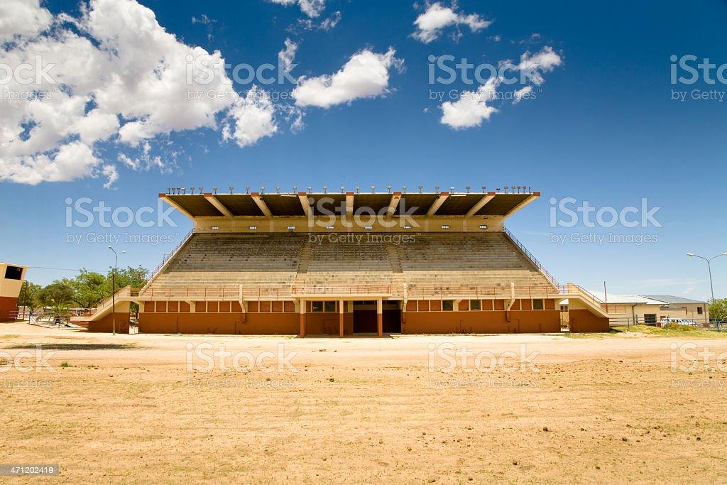 Empty African Stadium Tribune royalty-free stock photo