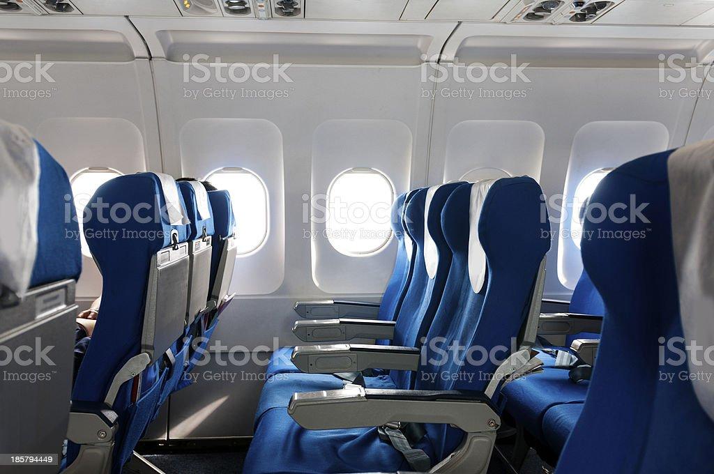 Empty aircraft stock photo