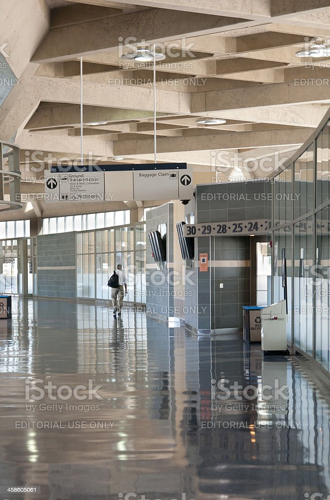Empty Airline Corridor stock photo