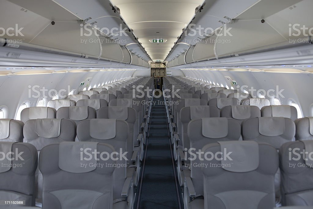 Empty airplane waiting for passangers...Airbus royalty-free stock photo