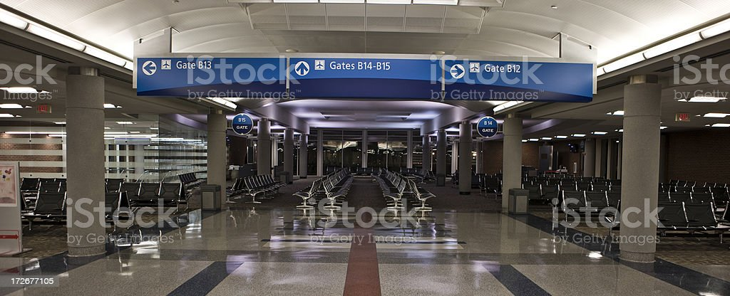 Empty Airport gates. royalty-free stock photo