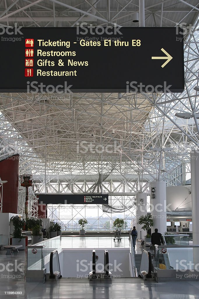 empty airport stock photo