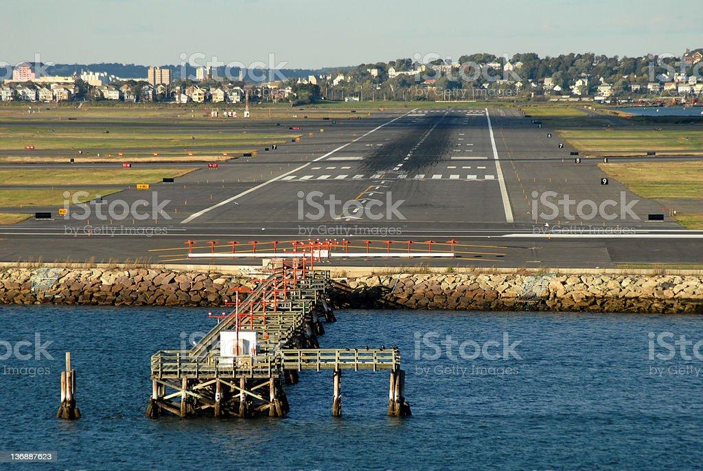 Empty Airport Runway stock photo