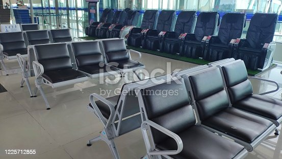 empty airport terminal in Hai Phong,Vietnam