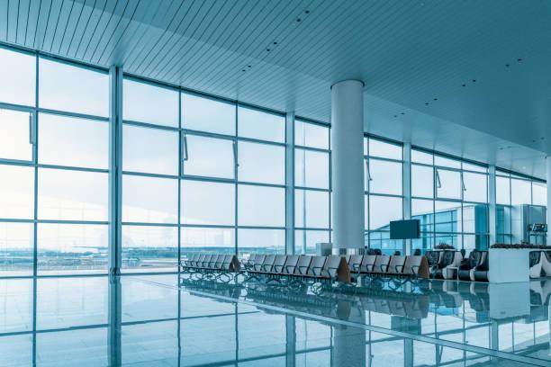 空機場候機室等候區 - 無人 個照片及圖片檔