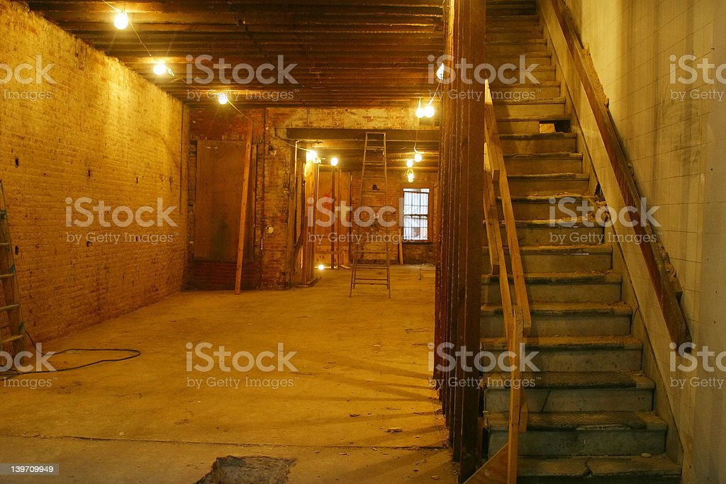 Empty Alleyway Basement royalty-free stock photo