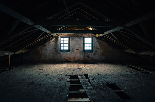 Empty and haunted attic