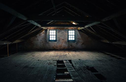 Dark Attic Bedroom
