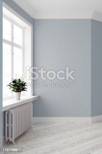 istock Empty antique interior 1137788817