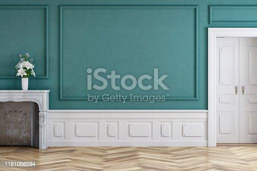istock Empty antique interior 1151056594