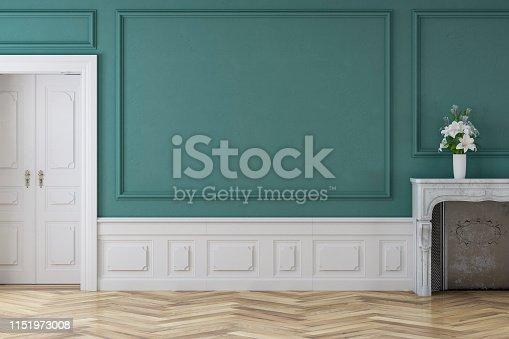 istock Empty antique interior 1151973008