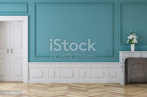 610958498istockphoto Empty antique interior 1152360529