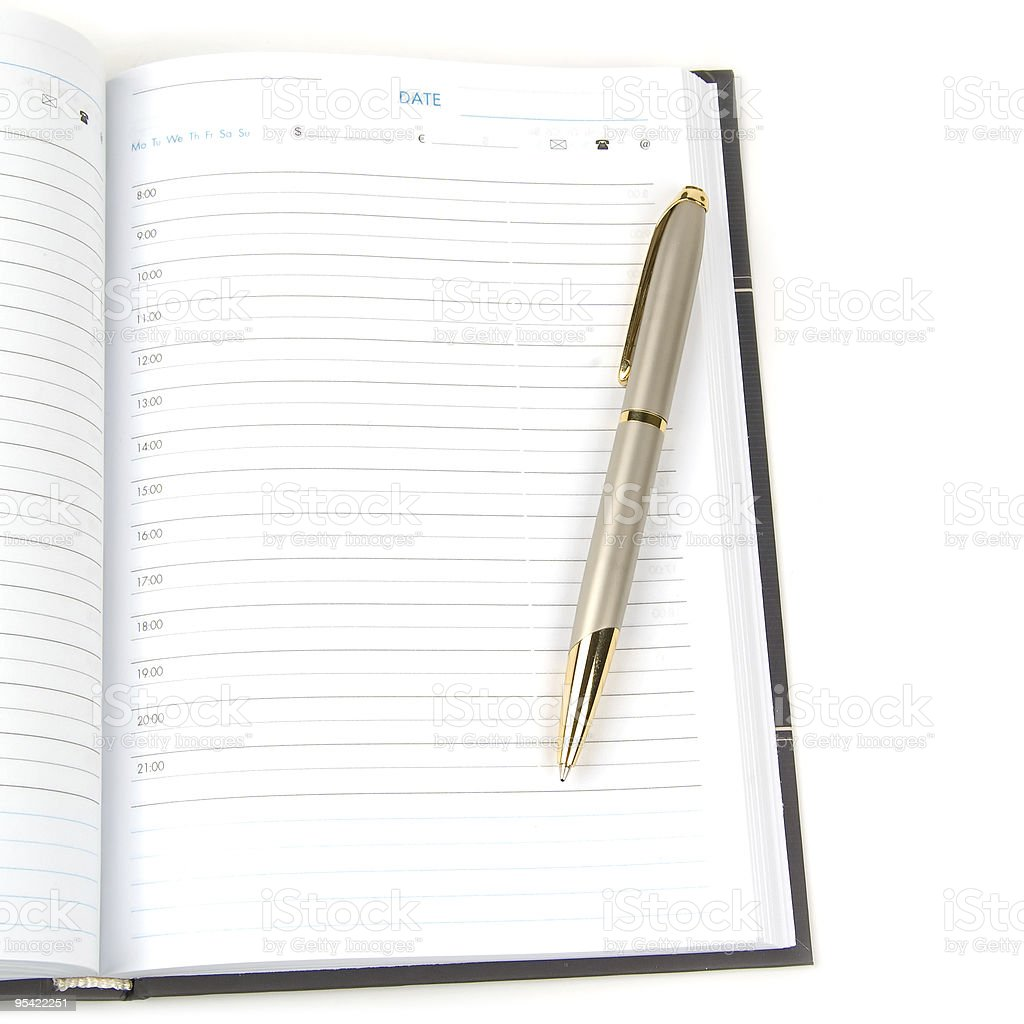 empty appointment book royalty-free stock photo