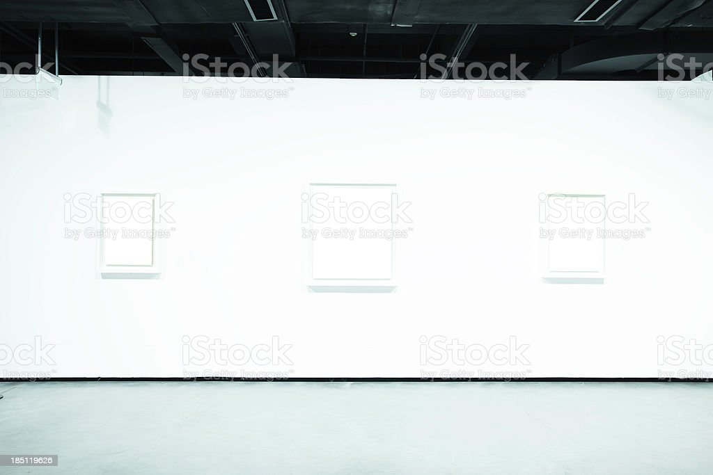 empty art museum royalty-free stock photo