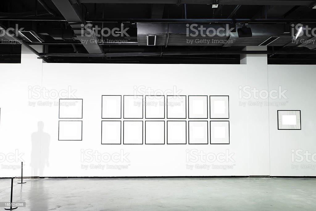 empty art museum stock photo