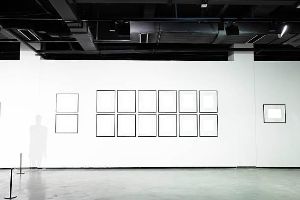 empty art museum - cement floor stock photos and pictures
