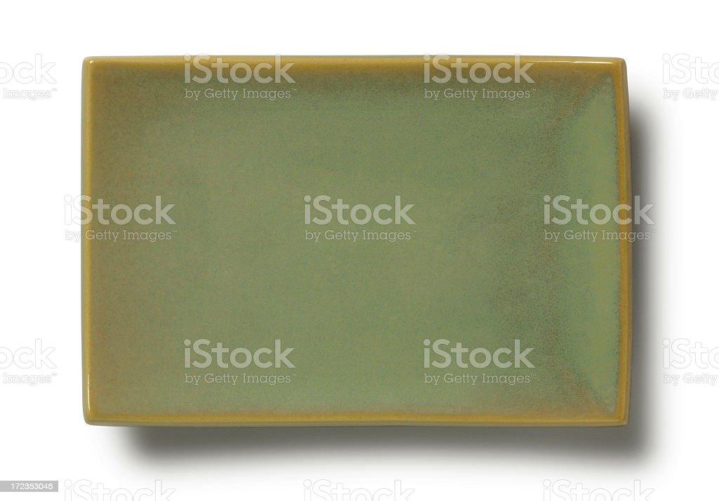 Placa vacía asiática foto de stock libre de derechos