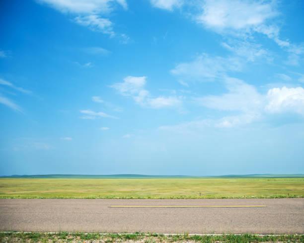 背景の空アスファルト道路 ストックフォト
