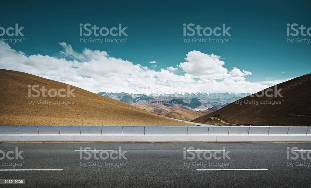 Empty asphalt road stock photo