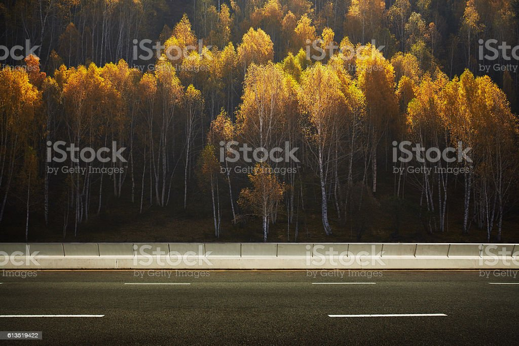 Empty asphalt road stock photo