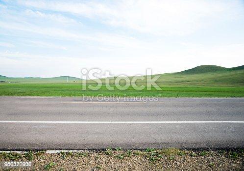 Empty asphalt road for background.